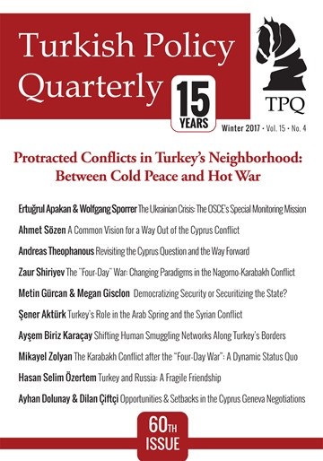 Protracted Conflicts in Turkey's Neighborhood: Between Cold Peace and Hot War
