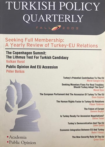 Seeking Full Membership: A Yearly Review of Turkey-EU Relations
