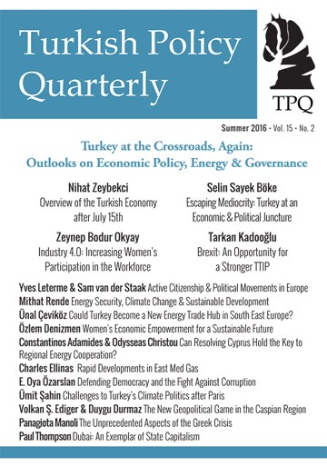 Turkey at the Crossroads, Again:  Outlooks on Economic Policy, Energy & Governance